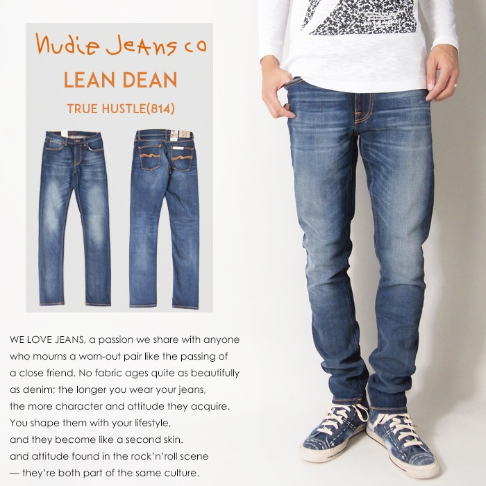 【nudie jeans ヌーディージーンズ】【LEAN DEAN/リーンディーン】 スキニー/スリム/men's/メンズ/インポートブランド/LEANDEAN-814