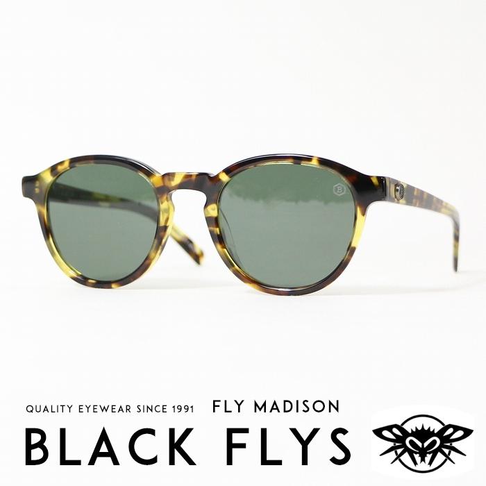 【BLACKFLYS ブラックフライ BLACK FLYS ブラックフライズ】 FLY MADISON サングラス SUNGLASS ボストンタイプ べっ甲 ストリート系 サーフ系 メンズ men's レディース lady's 国内正規品 インポート ブランド 海外ブランド BF-12825