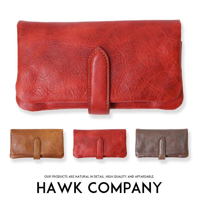 【Hawk Company ホークカンパニー】 財布 サイフ 長財布 本革 リアルレザー 小物 グッズ メンズ men's レディース プレゼント メンズ men's レディース lady's 3418