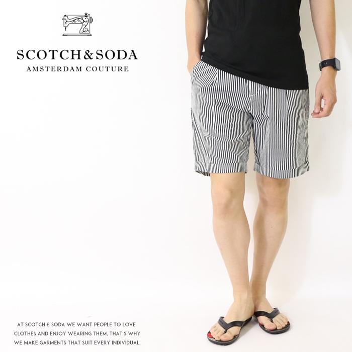 【セール 20%OFF】【スコッチ&ソーダ SCOTCH&SODA スコッチアンドソーダ】 ハーフパンツ ショートパンツ ショーツ ストライプ メンズ men's 国内正規品 インポート ブランド 海外ブランド 72515