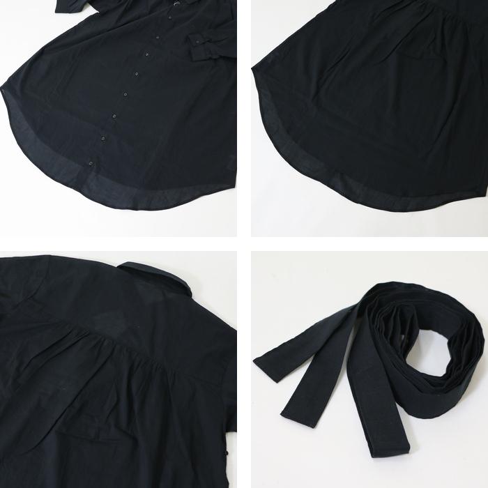 LHELBIE レルビエシャツ 七分袖 無地 ベルト ロング丈 レディース lady's 国内ブランド ドメスティック ブDI29HWEY