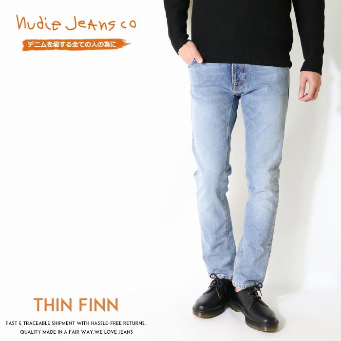 【セール 20%OFF】【nudie jeans ヌーディージーンズ】 THIN FINN シンフィン スキニー スリム テーパード men's メンズ インポートブランド 海外 ブランド 49161-1140-N996