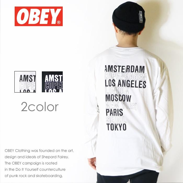 【OBEY オベイ】長袖Tシャツ tシャツ ロンT バックプリント スケート ストリート グラフィック メンズ men's 正規品 インポート ブランド 海外ブランド ストリートブランド 164901893