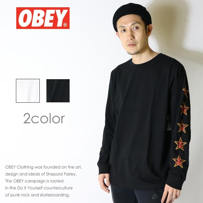 【OBEY オベイ】長袖Tシャツ tシャツ ロンT アームプリント スケート ストリート グラフィック メンズ men's 正規品 インポート ブランド 海外ブランド ストリートブランド 164901668