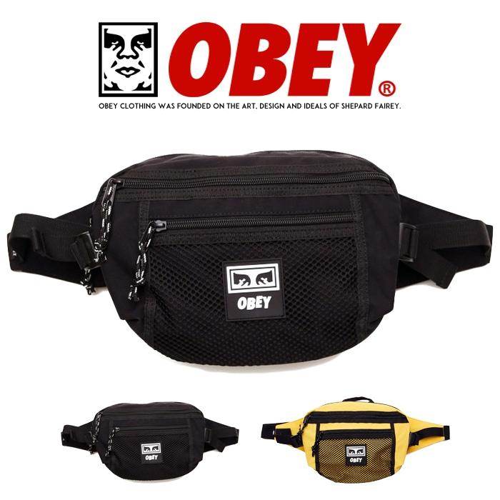 【OBEY オベイ】 ウエストバッグ ボディバッグ ショルダー バッグ かばん メンズ レディース 正規品 インポート ブランド 海外ブランド ストリートブランド 100010108