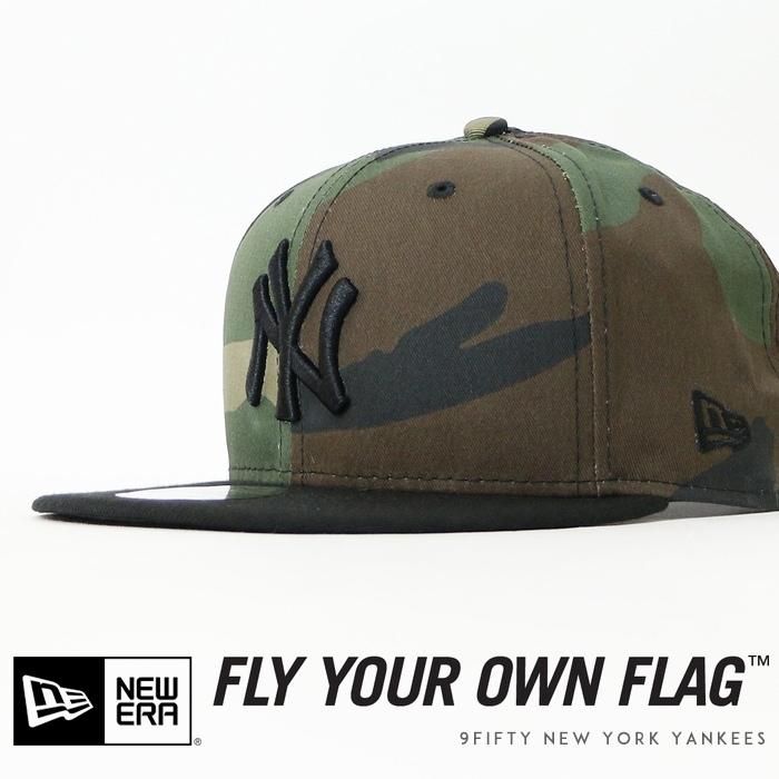 【NEWERA ニューエラ NEW ERA】 キャップ スナップバック 帽子 9fifty ニューヨークヤンキース YANKEES 迷彩 カモフラージュ メンズ men's 国内正規品 インポート ブランド 海外ブランド 11308466