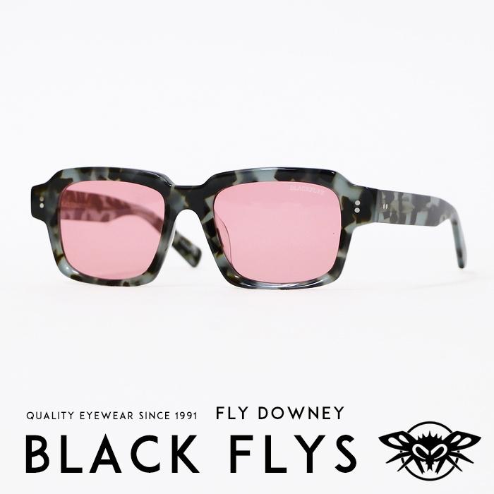 【BLACKFLY ブラックフライ】 FLY DOWNEY/フライドウニー サングラス SUNGLASS スクエア べっ甲 ストリート系 サーフ系 メンズ men's レディース lady's 国内正規品 インポート ブランド 海外ブランド BF-1197-03