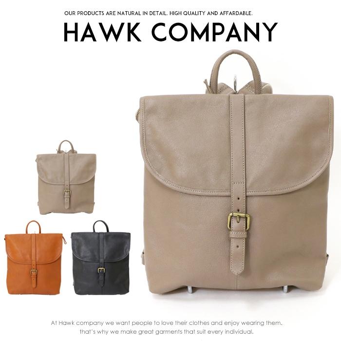 【Hawk Company ホークカンパニー】 バッグ レザー キャンバス リュック 小物 牛革 グッズ メンズ men's レディース lady's プレゼント 彼氏 男性 3248