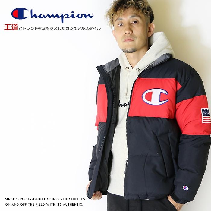 【セール 30%OFF】【Champion チャンピオン】 ダウンジャケット アウター 長袖 ジップアップ アクションスタイル トップス メンズ men's 国内正規品 インポート ブランド 海外ブランド C3-Q607