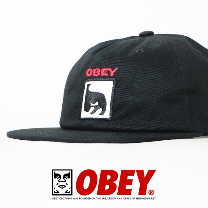 【2019年 秋冬新作】【OBEY オベイ】 キャップ 帽子 CAP スナップバックキャップ ストリート スケボー グラフィック メンズ men's 正規品 インポート ブランド 海外ブランド ストリートブランド 1005-802-04