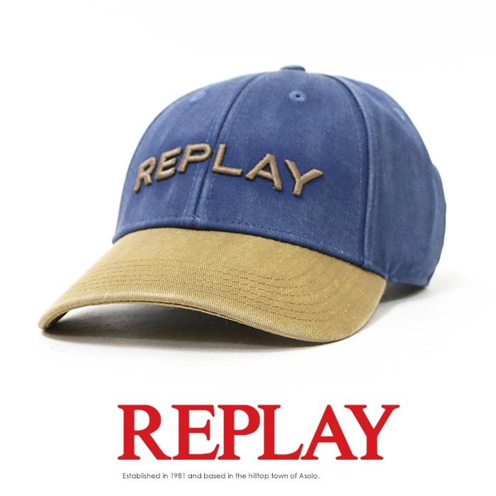 【2019年 秋冬新作】【REPLAY リプレイ】 キャップ アジャスター 帽子 CAP アメカジ メンズ men's 国内正規品 インポート ブランド 海外ブランド AX4161-002-A0113E