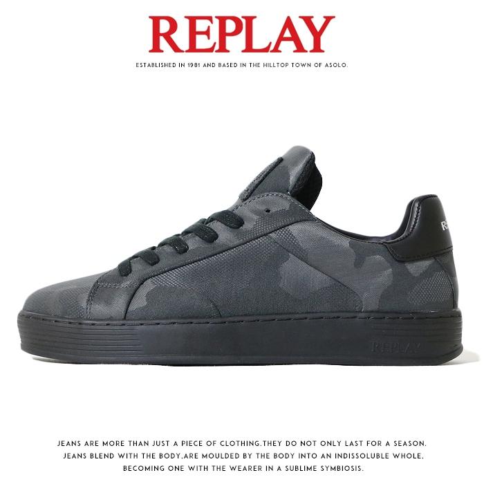 【REPLAY リプレイ】 スニーカー シューズ 靴 くつ ローカット 迷彩 カモフラージュ リプレイジーンズ メンズ MEN'S 国内正規品 インポート ブランド 海外ブランド GMZ97-000-C0021S