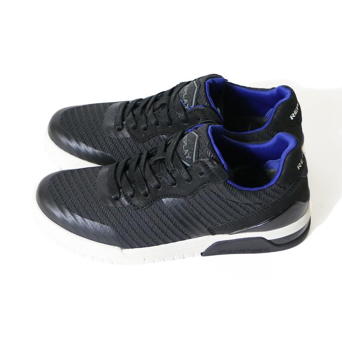 REPLAY リプレイスニーカー シューズ 靴 くつ ローカット リプレイジーンズ メンズ MEN'S 国内正規品 インポート ブランド 海外ブランド GMZ1R 000 C0003SWD9YIEH2