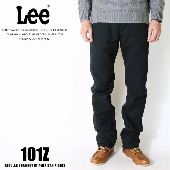 Lee リー ジーンズ 101z アメリカンライダース 日本製 ストレート ツイル 裾直し無料 送料無料 ブラック メンズ インポート ブランド 海外 ブランド LM5101-375