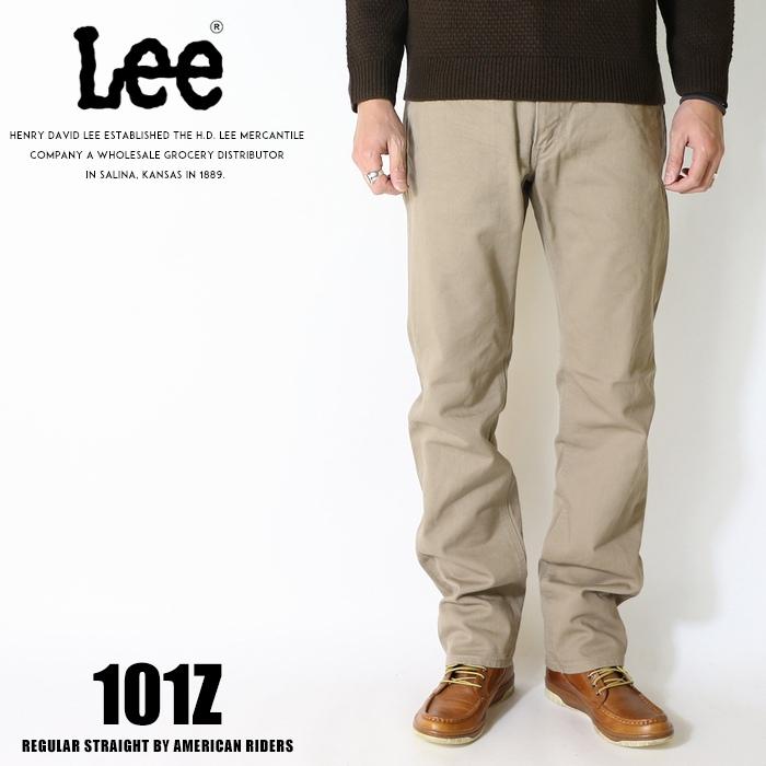 Lee リー ジーンズ 101z アメリカンライダース 日本製 ストレート ツイル 裾直し無料 送料無料 カーキ メンズ インポート ブランド 海外 ブランド LM5101-314