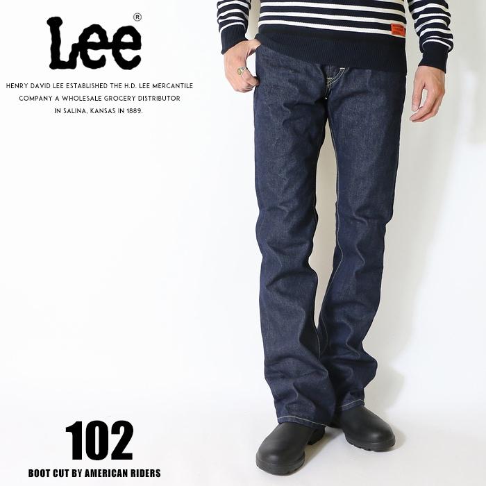Lee リー ジーンズ 102 ブーツカット アメリカンライダース 日本製 デニム 裾直し無料 送料無料 ワンウォッシュ メンズ インポート ブランド 海外 ブランド LM5102-500
