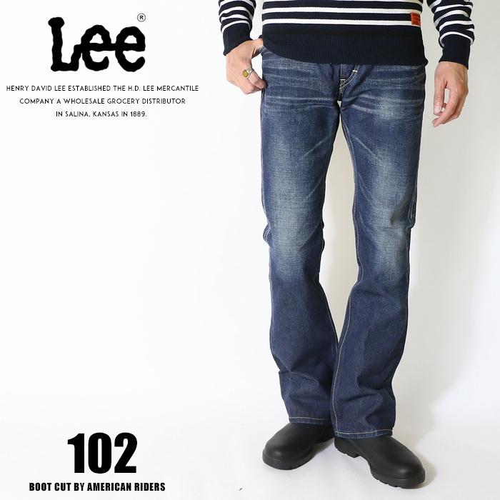 Lee リー ジーンズ 102 ブーツカット アメリカンライダース 日本製 デニム 裾直し無料 送料無料 ユーズド加工 メンズ インポート ブランド 海外 ブランド LM5102-526