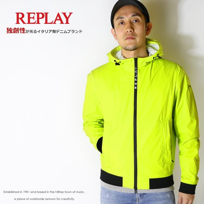 【2020年 春夏新作】【REPLAY リプレイ】 ナイロンジャケット ジャケット アウター ライトアウター メンズ men's 国内正規品 インポート ブランド 海外ブランド M8048-000-83578