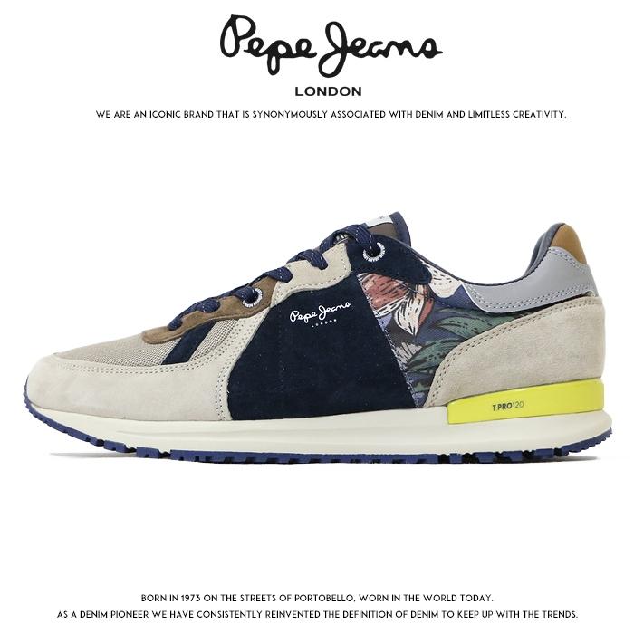 【2020年 春夏新作】【Pepe Jeans ペペジーンズ】 スニーカー シューズ 靴 くつ ローカット メンズ 国内正規品 インポート ブランド 海外ブランド ヨーロッパブランド PMS30618