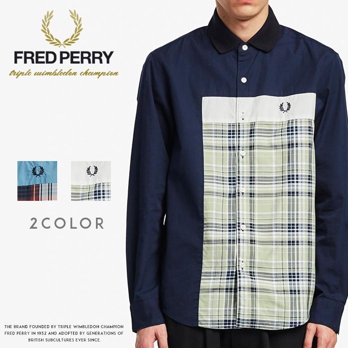 【2020年 春夏新作】【FRED PERRY フレッドペリー】 長袖シャツ チェックシャツ メンズ men's 国内正規品 インポート ブランド 海外ブランド F4546