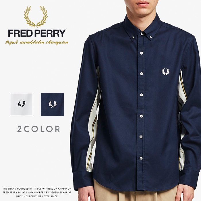 2020年最新入荷 【FRED PERRY フレッドペリー】 長袖シャツ ストライプ メンズ men&39;s 国内正規品 インポート ブランド 海外ブランド F4545, カオン b56364ae