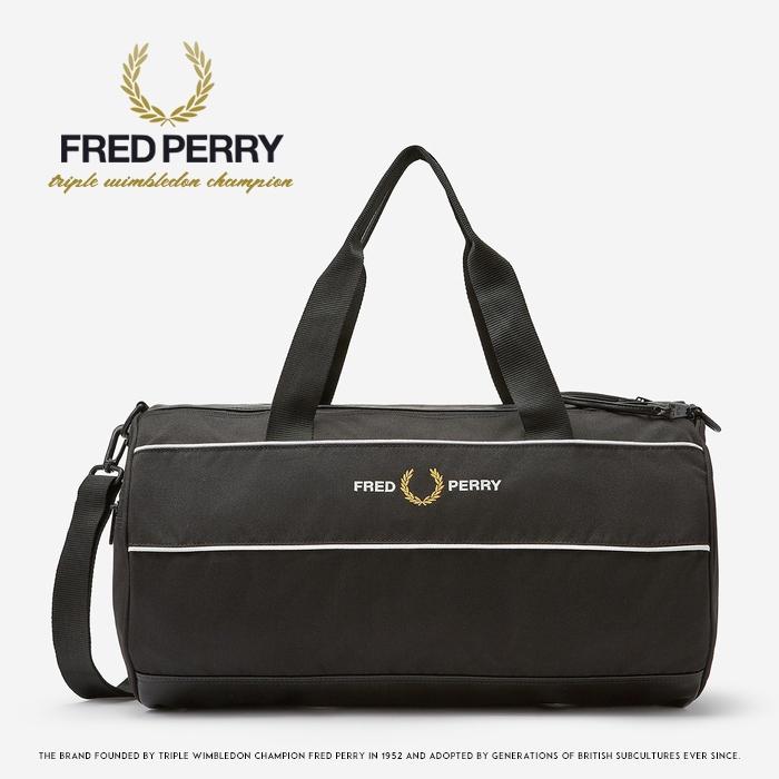 【2020年 春夏新作】【FRED PERRY フレッドペリー】 ドラムバッグ ボストンバッグ ショルダーバッグ 旅行 メンズ レディース 国内正規品 インポート ブランド 海外ブランド L8267