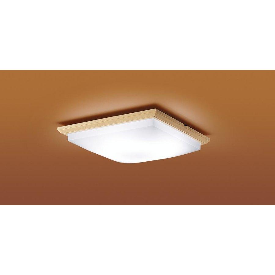 パナソニック LGBZ0808 和風照明 LEDシーリングライト 6畳用 昼光色-電球色 リモコン調光・調色 3550lm 乳白つや消しカバー カチットF リモコン付