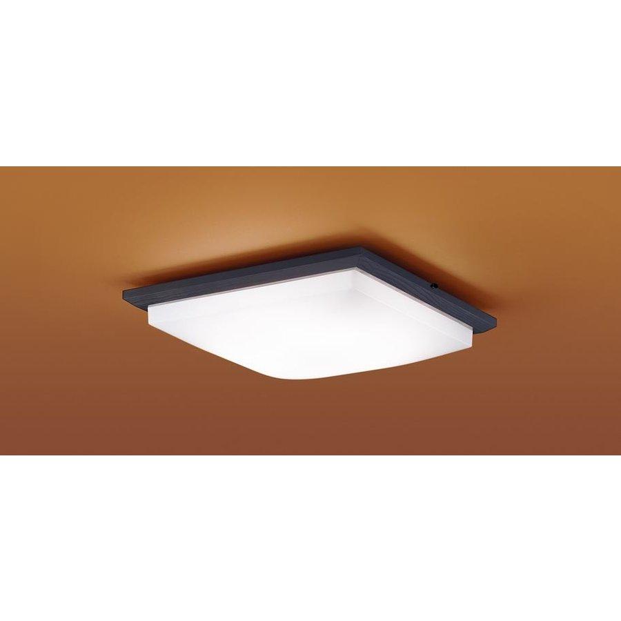 パナソニック LGBZ1809 和風照明 LEDシーリングライト 8畳用 昼光色-電球色 リモコン調光・調色 3900lm ダークブラウン カチットF リモコン付