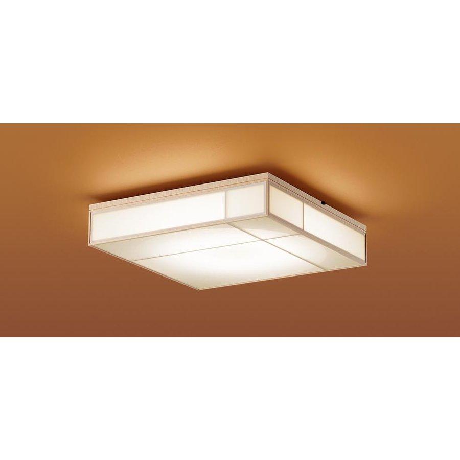 パナソニック LGBZ1864 和風照明 LEDシーリングライト 8畳用 昼光色-電球色 リモコン調光・調色 3650lm 朧シリーズ 強化和紙張り カチットF リモコン付
