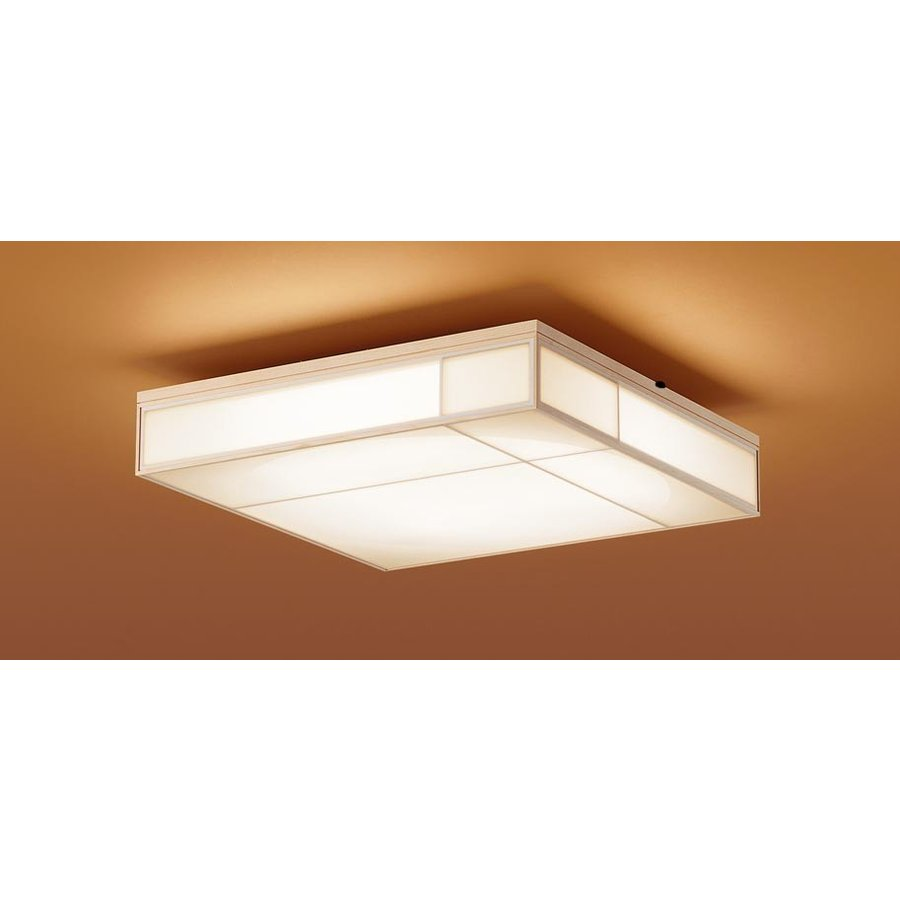 パナソニック LGBZ2764 和風照明 LEDシーリングライト 10畳用 昼光色-電球色 リモコン調光・調色 4100lm 朧シリーズ 強化和紙張り カチットF リモコン付