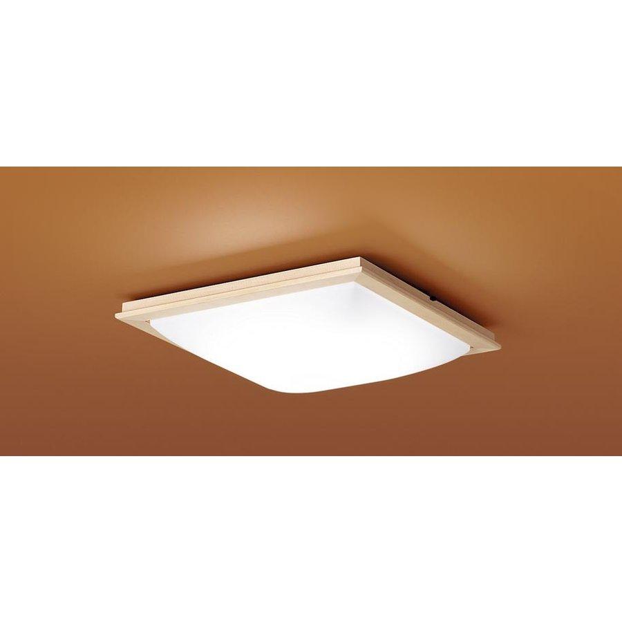 パナソニック LGBZ2811 和風照明 LEDシーリングライト 10畳用 昼光色-電球色 リモコン調光・調色 4400lm 模様入りカバー カチットF リモコン付
