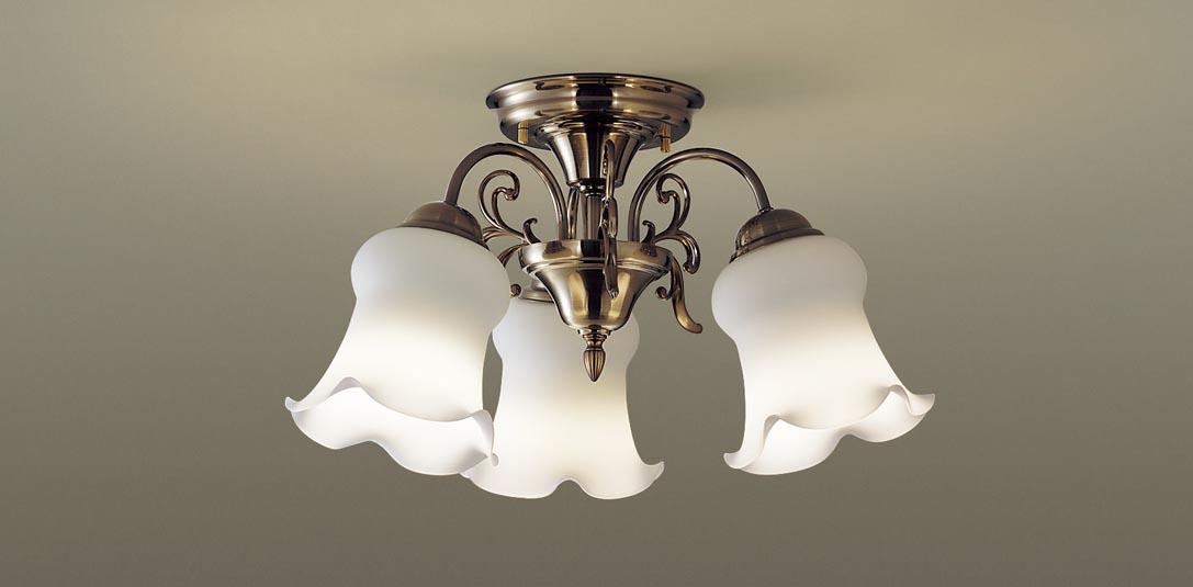 パナソニック LGB57314K 天井直付型 LED(電球色) 小型シャンデリア Uライト方式 白熱電球40形3灯器具相当 ランプ付(同梱) 『LGB57314K』