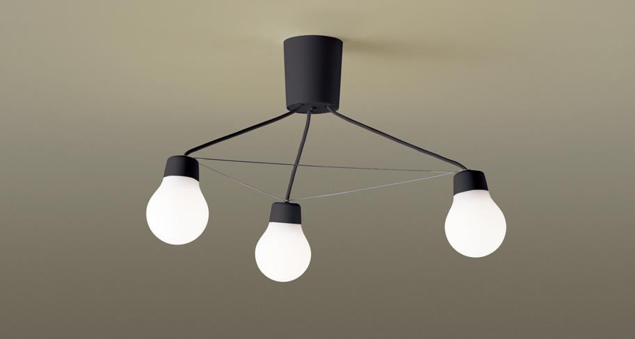 パナソニック LGB57329B CE1 吊下型 LED(温白色) シャンデリア 拡散タイプ・引掛シーリング方式 白熱電球60形3灯器具相当 LED一体形 『LGB57329BCE1』