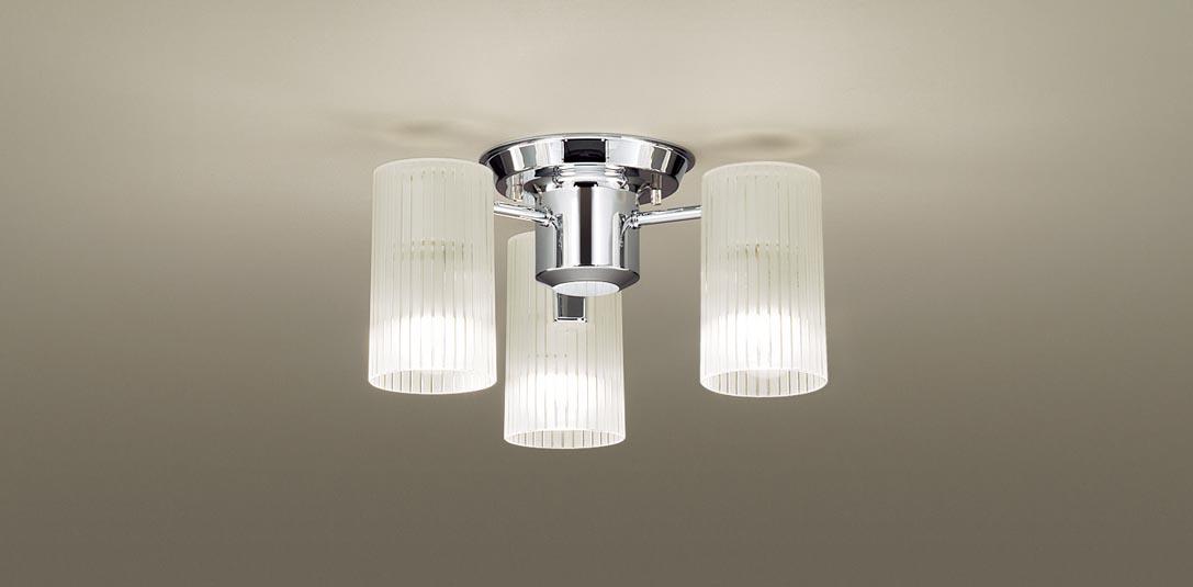 パナソニック LGB57350K 天井直付型 LED(電球色) 小型シャンデリア Uライト方式 白熱電球40形3灯器具相当 ランプ付(同梱) 『LGB57350K』