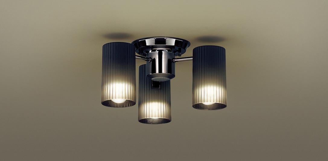 パナソニック LGB57351K 天井直付型 LED(電球色) 小型シャンデリア Uライト方式 白熱電球40形3灯器具相当 ランプ付(同梱) 『LGB57351K』