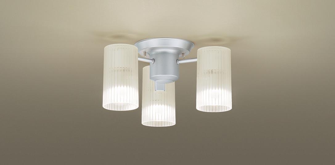 パナソニック LGB57353K 天井直付型 LED(電球色) 小型シャンデリア Uライト方式 白熱電球40形3灯器具相当 ランプ付(同梱) 『LGB57353K』