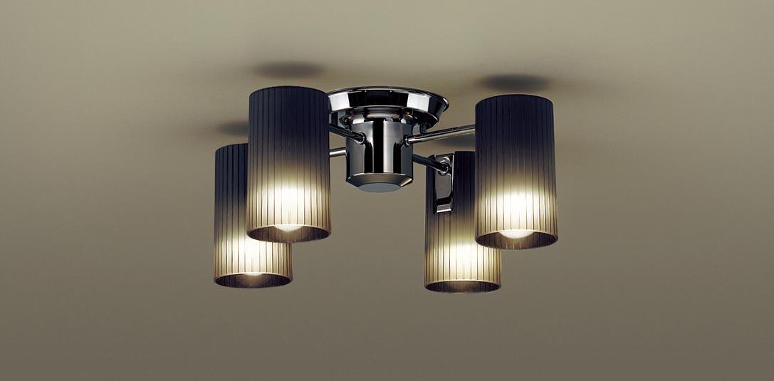 パナソニック LGB57451K 天井直付型 LED(電球色) シャンデリア Uライト方式 白熱電球40形4灯器具相当 ランプ付(同梱) 『LGB57451K』