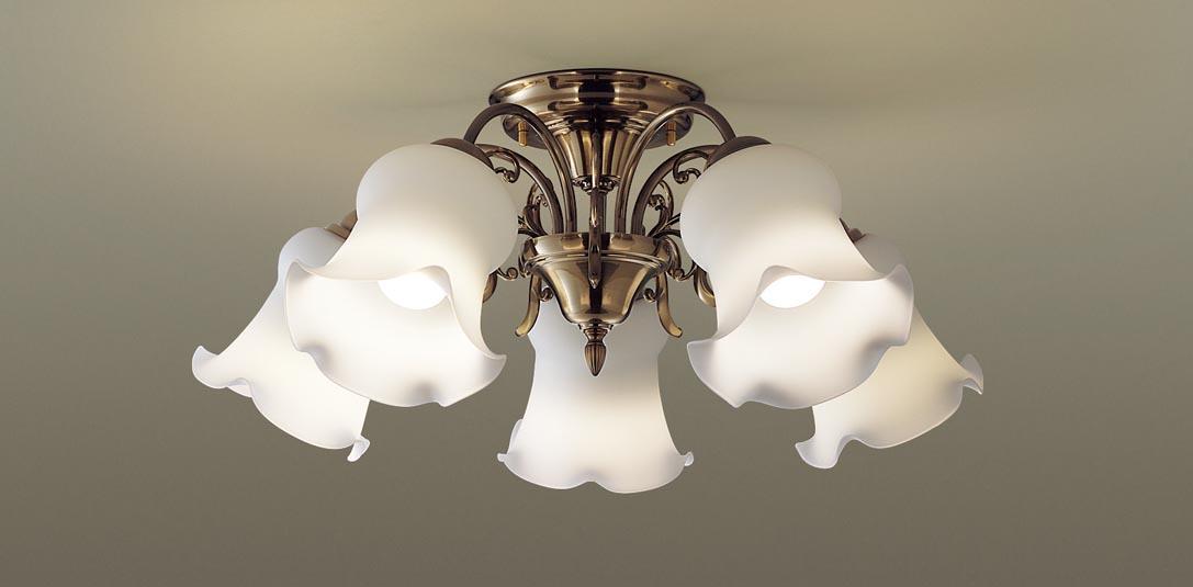 パナソニック LGB57518 吊下型 LED(電球色) シャンデリア U-ライト方式 白熱電球60形5灯器具相当/~10畳 ランプ付(同梱) 『LGB57518』