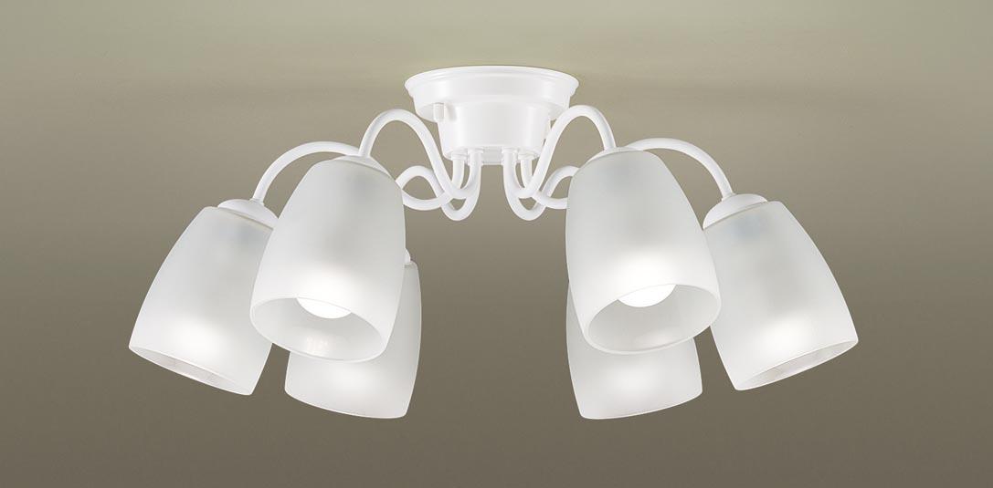 パナソニック LGB57604K 天井直付型 LED(電球色) シャンデリア Uライト方式 白熱電球40形6灯器具相当/~8畳 ランプ付(同梱) 『LGB57604K』