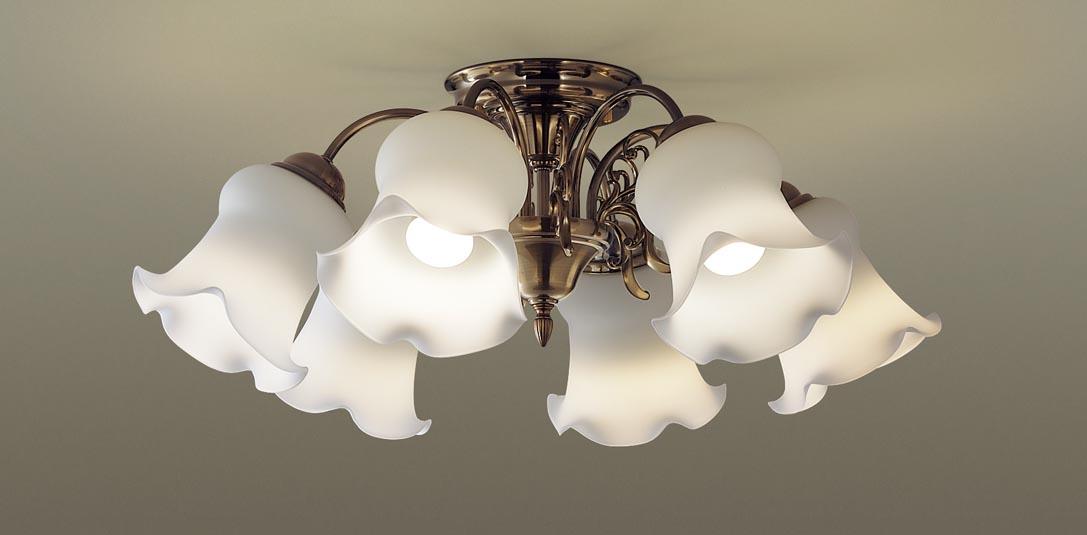 パナソニック LGB57618 吊下型 LED(電球色) シャンデリア U-ライト方式 白熱電球60形6灯器具相当/~12畳 ランプ付(同梱) 『LGB57618』