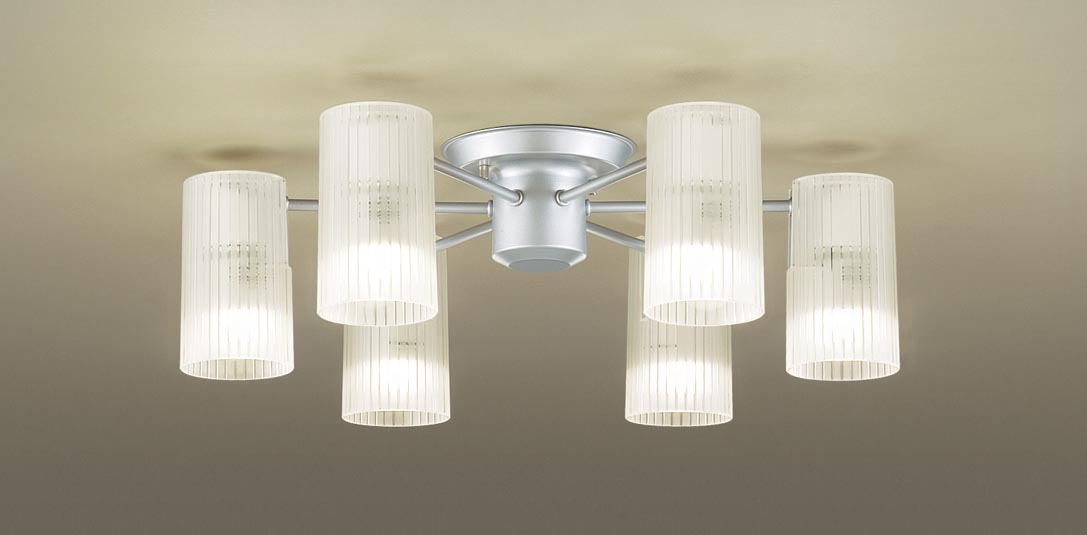 パナソニック LGB57653K 天井直付型 LED(電球色) シャンデリア Uライト方式 白熱電球40形6灯器具相当/~6畳 ランプ付(同梱) 『LGB57653K』