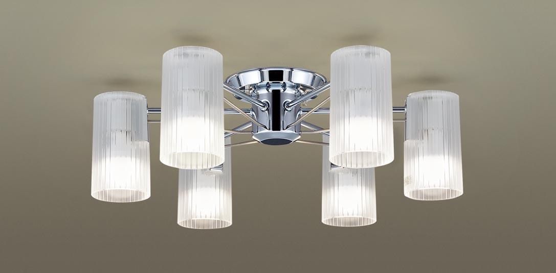 パナソニック LGB57660 吊下型 LED(電球色) シャンデリア U-ライト方式 白熱電球60形6灯器具相当/~12畳 ランプ付(同梱) 『LGB57660』