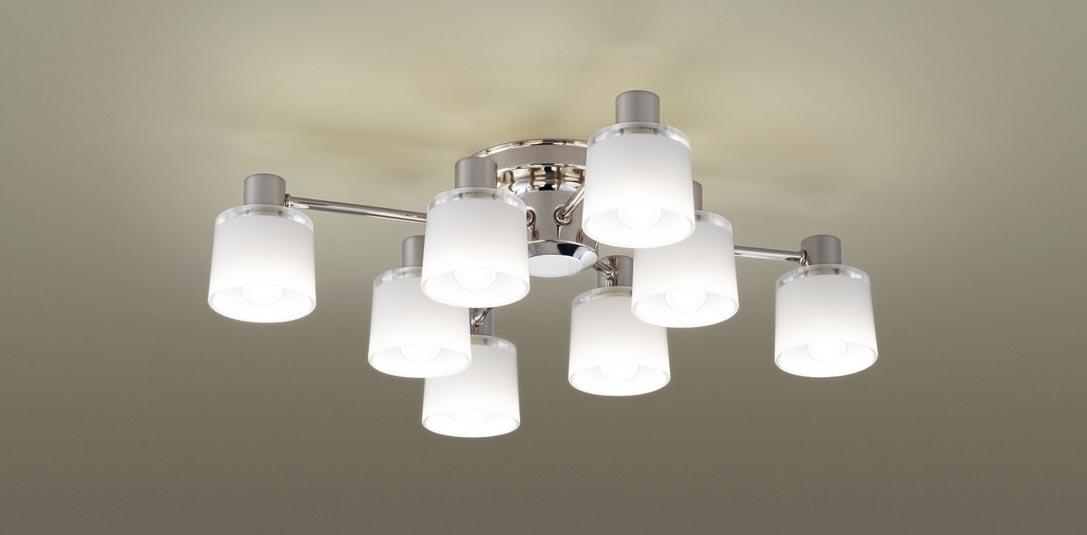 パナソニック LGB59954K 天井直付型 LED(電球色) シャンデリア Uライト方式 白熱電球40形8灯器具相当/~8畳 ランプ付(同梱) 『LGB59954K』