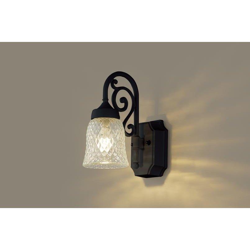 パナソニック LGW85203BK 壁直付型 LED 電球色 ポーチライト 密閉型 防雨型 白熱電球40形1灯相当 ランプ付(同梱)