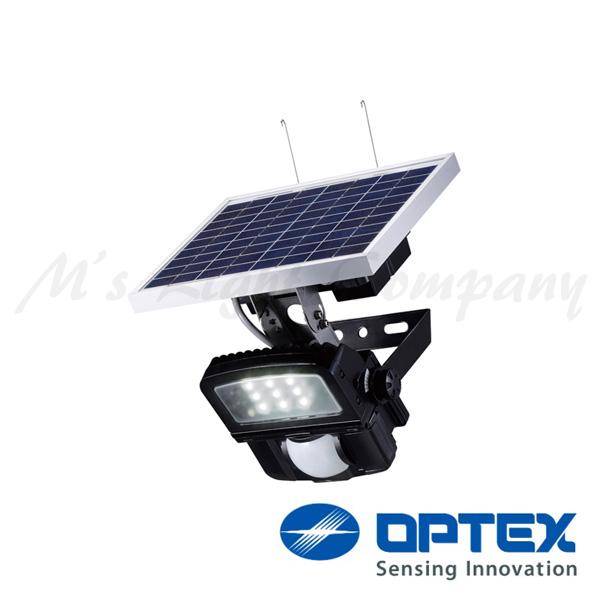 オプテックス LC-2000C(BL) LEDセンサライト ソーラー式 駐車場用 ポール・壁面取付 2000lm サークル配光 センサー調光型 耐塩仕様 IP65 ブラック 『LC2000CBL』
