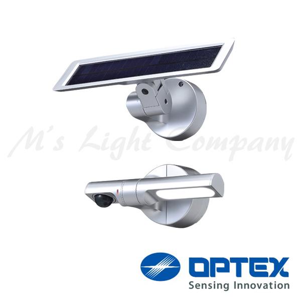オプテックス LS-10(S) LEDセンサライト ソーラー式 ポール・角柱・壁面・天井取付 300lm 白色 サークル配光 耐塩仕様 IP55 シルバー 『LS10S』