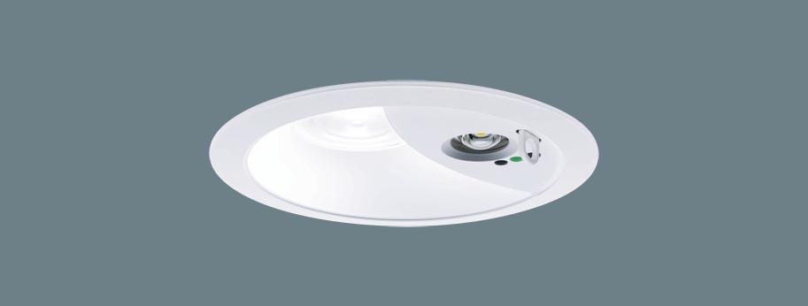 パナソニック XNG1060WL LE9 LEDダウンライト 非常用 階段通路誘導灯 埋込穴φ150 電球色 広角 非常時30分間 非調光 自己点検機能付 LED100形 本体+電源ユニット