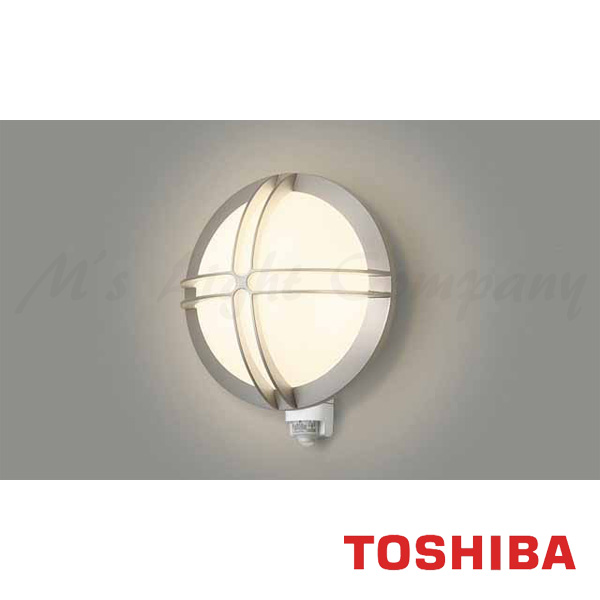 東芝 LEDB88926Y(S) LED 屋外ブラケット 防雨形 ON/OFFセンサー付 シルバー ランプ別売 『LEDB88926YS』