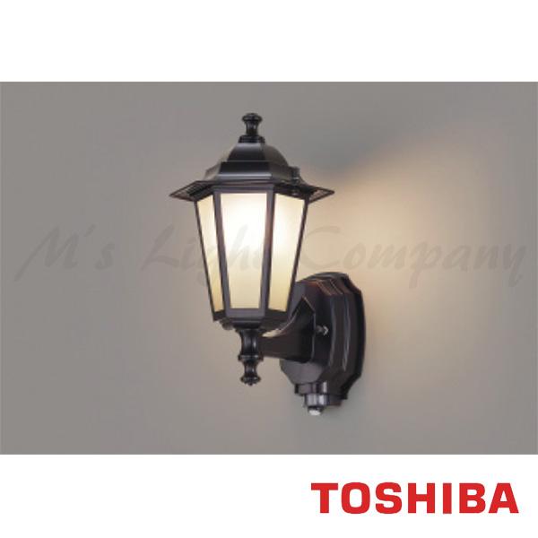 東芝 LEDB88940Y(K) LED屋外ブラケット 防湿・防雨形 白熱灯器具60W相当 ON/OFFセンサー付 ランプ別売 『LEDB88940YK』