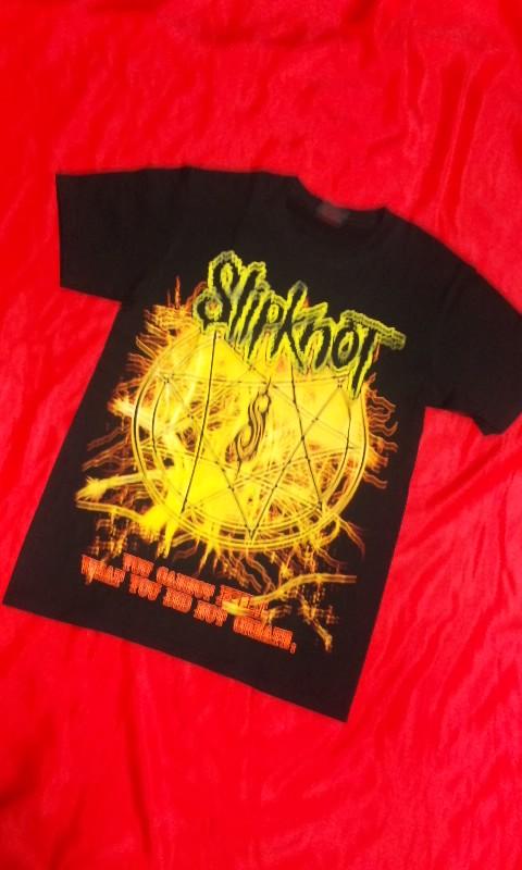 ゆうメール 1枚あたり¥110 発送可能 ロックTシャツ SlipknoT スリップノット S M 交換無料 黒 HM 25%OFF HR L ブラックバンT ハ-ドロック ヘビ-メタル XL